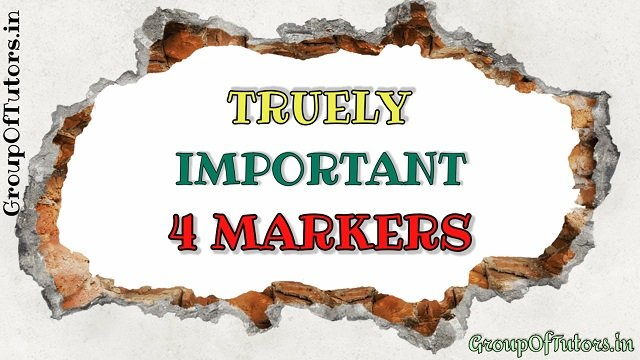 Important 4 Marker Questions Class 10th