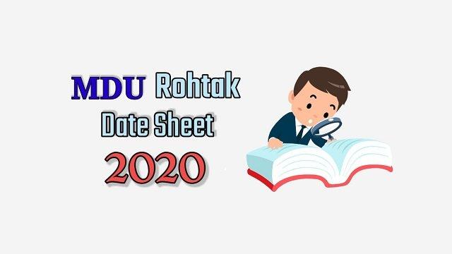 MDU B.Ed Date Sheet 2020
