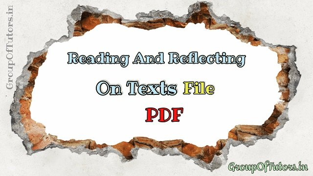 Reading and Reflecting On Texts File